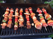On the grill