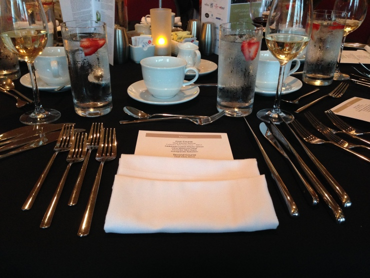 The place setting.