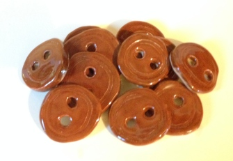 "My buttons (they are definitely ""rustic"". Now I need to figure out what I'll use them on.)"