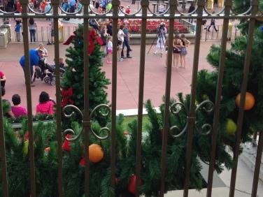 Garland at Magic Kingdom had fruit as decoration