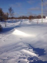 My driveway. The drift is around 4 feet.