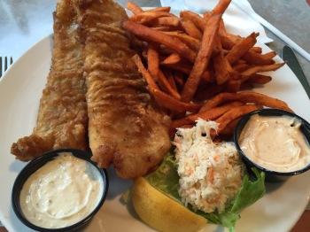 Fish & sweet potato fries