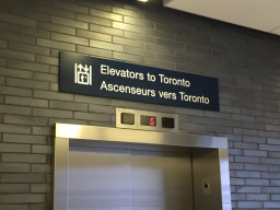 I loved this sign at Billy Bishop City Airport