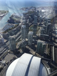 Glass elevator at CN Tower