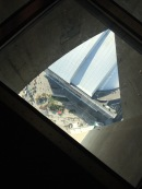 Rogers Centre from CN Tower glass floor