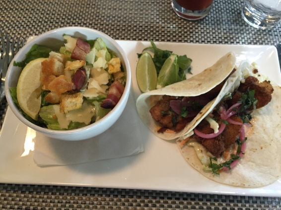 Fish tacos at Arriba Restaurant