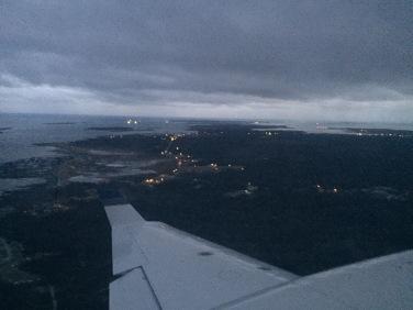 The island at dusk.