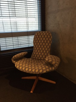 Funky chair in room