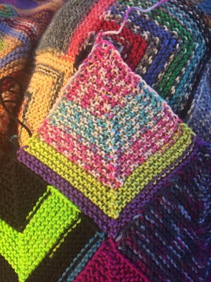 Square 9: Random Sock Yarn