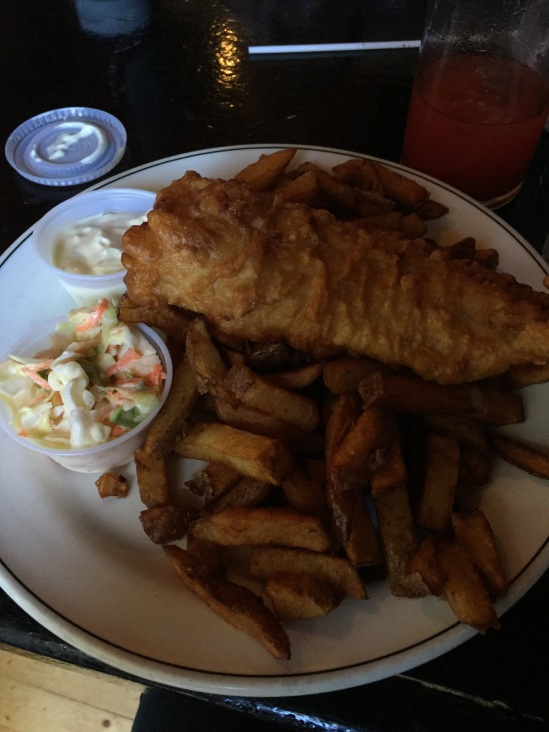 The first night in St. John's we went to George Street and had fish and chips in a pub. Classic.