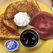 Bologna is one of those foods you either love or hate. I happen to fall in the love category, though I consider it mostly a lunch/supper fare. When I saw bologna as a breakfast meat, I knew I had to try it. The French toast was good too. (PJ Billington's in St. John's)