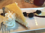 Cheesecake for dessert at the Cafe at the Rooms in St. John's.