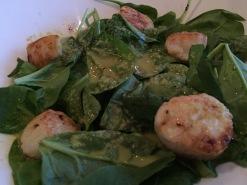 Scallop salad at the Mystic Restaurant at Sinbad's Hotel in Gander