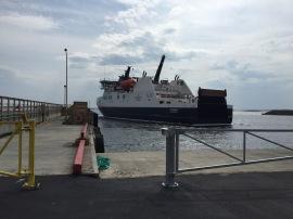 Veteran docking on Fogo