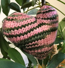 pink and green camouflage heart