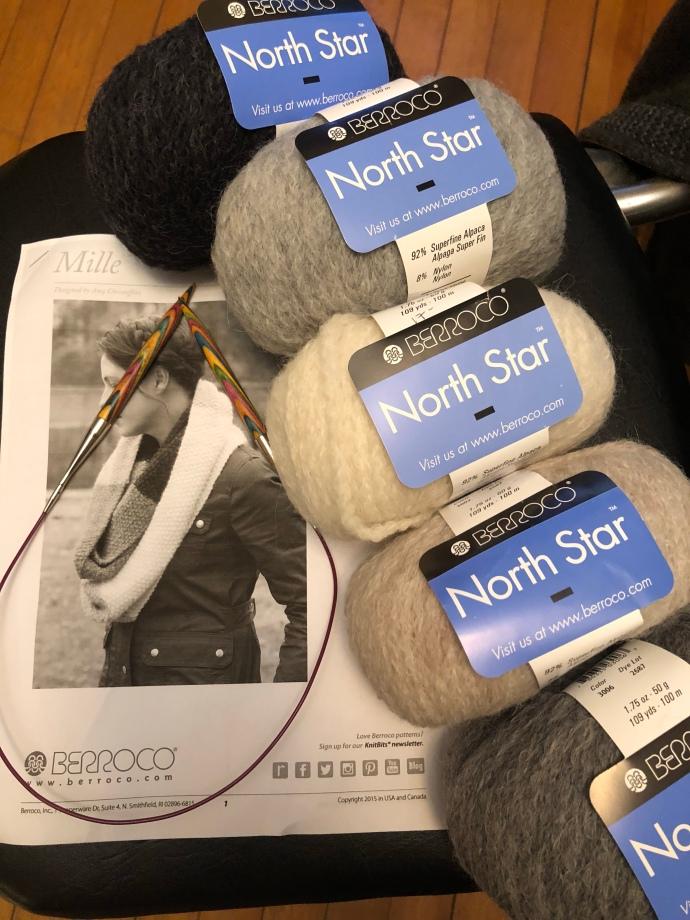 Mille cowl berocco north star yarn