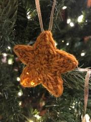 crochet gold star
