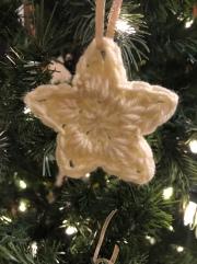 crochet white star